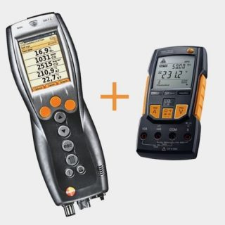 Testo 330-1 LL газоанализатор + testo 760-2 мультиметр с магнитным креплением (комплект)