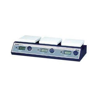 Магнитная мешалка 3-х местная с подогревом SMHS-3 цифровая (80-1500 об/мин)