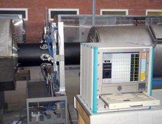 УД-8К v.2 Новая 8 канальная система ультразвукового контроля толщины стенки полиэтиленовой трубы в процессе производства