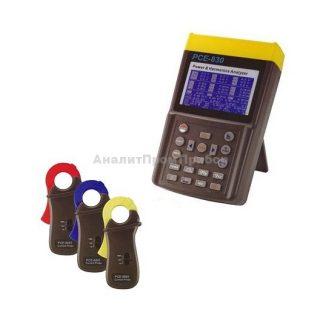 PCE-830 + клещи PCE-6801 (100A) анализатор качества электроэнергии