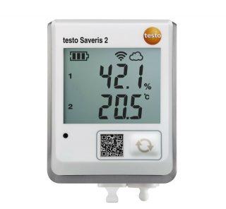 Testo Saveris 2-H2 WiFi-логгер данных с дисплеем и подключаемым внешним зондом температуры/влажности