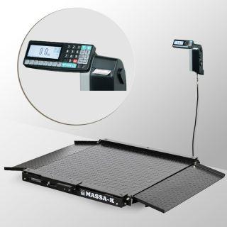 4D-LA-4-1000-RL весы низкопрофильные с печатью этикеток