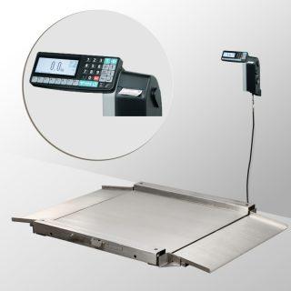 4D-LA.S-2-1500-RL весы низкопрофильные с печатью этикеток