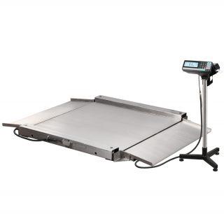 4D-LA.S-2-1500-RP весы низкопрофильные с печатью этикеток