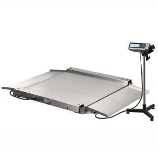 4D-LA.S-4-2000-RP весы низкопрофильные с печатью этикеток
