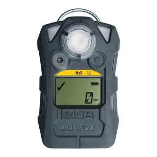 ALTAIR 2X H₂S-LC газоанализатор, пороги тревог: 5 ppm и 10 ppm, фосф. корпус
