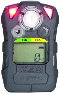 ALTAIR 2X SO₂ газоанализатор, пороги тревог: 1, 2, 1, 1 ppm, фосф. корпус