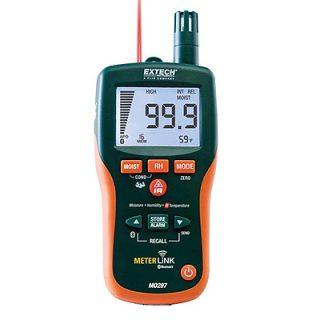 Бесштифтовой психрометр/измеритель влагосодержания с инфракрасным термометром Extech MO297