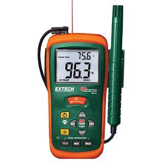 Гигрометр + Инфракрасный термометр Extech RH101