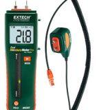 Комбинированный штифтовой/бесконтактный измеритель влажности Extech MO265