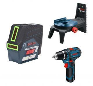 Лазерный уровень Bosch GCL 2-50 CG+RM 2+GSR12V
