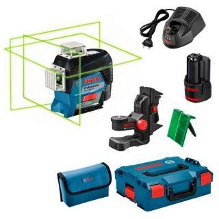 Лазерный уровень Bosch GLL 3-80 CG + BM 1 + GBA 12V + L-Boxx