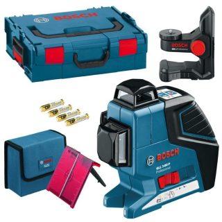 Лазерный уровень Bosch GLL 3-80P + BM1+ LR2 + L-BOXX