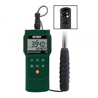 Термо/Гигро/Анемометр с функцией измерения точки росы и температуры смоченного шарика Extech AN340