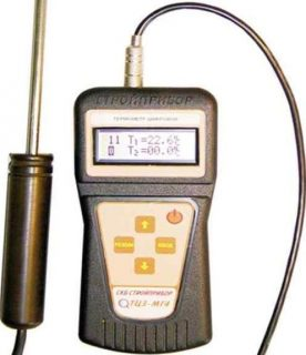 Зондовый цифровой термометр СТРОЙПРИБОР ТЦЗ-МГ4.03 (2 канала)
