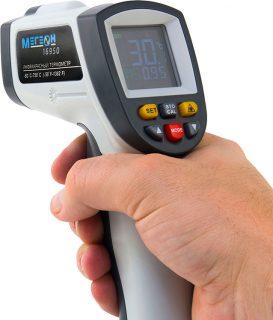 Инфракрасный термометр с цветным дисплеем МЕГЕОН 16950