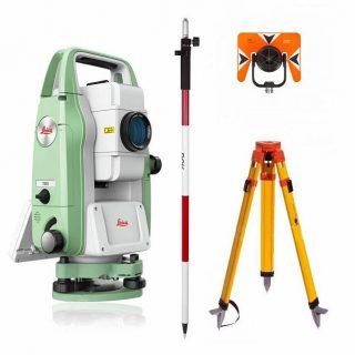 Комплект 4 в 1: тахеометр Leica TS03 R500 (5″) со штативом, отражателем и вехой
