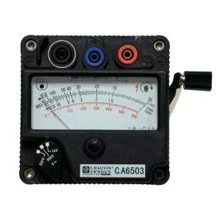 C.A 6503 — измеритель сопротивления изоляции, индукторный мегаомметр