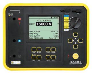 C.A 6555 — измеритель сопротивления изоляции до 15 кВ постоянного тока