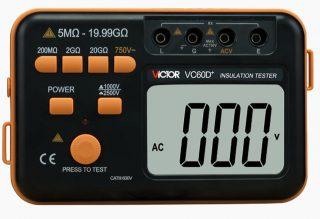 Victor VC60D+ — измеритель сопротивления изоляции