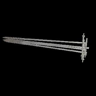 Комплект штырей заземления 1м, винтовых, нержавеющая сталь