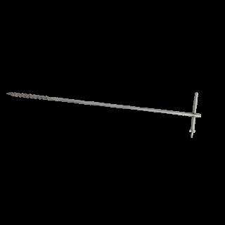 Штырь заземления 1м, винтовой, нержавеющая сталь
